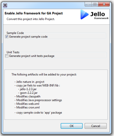 add Jello support to an existing App Engine project